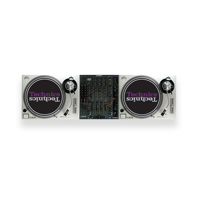 2x Technics SL1200 + 1x Xone:92